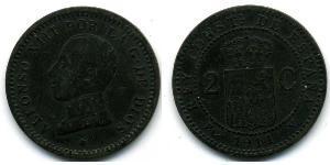 2 Centimo Kingdom of Spain (1874 - 1931) Bronze