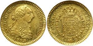 1 Escudo Chile Gold Charles III of Spain (1716 -1788)