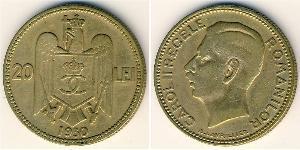 20 Lev Kingdom of Romania (1881-1947) Brass/Nickel