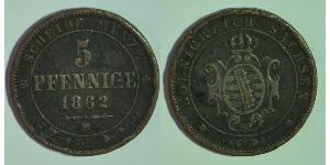 5 Pfennig States of Germany Copper