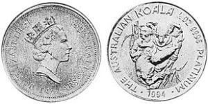 50 Dollar Australie (1939 - ) Platine Elizabeth II (1926-)