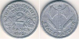 2 Franc Vichy France (1940-1944) Aluminium