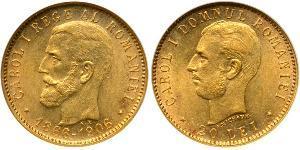 20 Leu Kingdom of Romania (1881-1947) Gold Carol I of Romania (1839 - 1914)