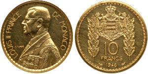 10 Franc Monaco Gold Louis II. von Monaco (1870-1949)