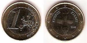1 Евро Кипр (1960 - ) Биметалл
