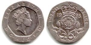 20 Penny United Kingdom (1922-) Copper/Nickel Elizabeth II (1926-)