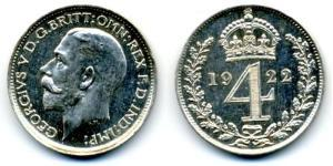 4 Penny United Kingdom (1922-) Silver George V of the United Kingdom (1865-1936)