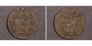 1 Duit Provincias Unidas de los Países Bajos (1581 - 1795) Cobre