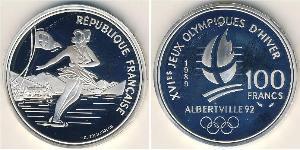 100 Franc France Argent