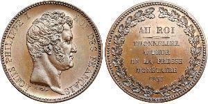 5 Franc Monarquía de Julio (1830-1848) Bronce Luis Felipe I de Francia  (1773 -1850)