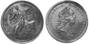 1/2 Thaler Augsbourg (1276 - 1803) Argent François Ier du Saint-Empire(1708-1765)