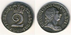 2 Penny Reino de Gran Bretaña (1707-1801) Plata Jorge III (1738-1820)