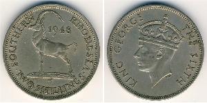 2 Shilling Southern Rhodesia (1923-1980) Kupfer/Nickel Georg VI (1895-1952)