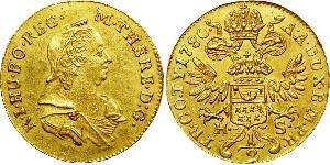 1/2 Ducat Principality of Transylvania (1571-1711) / Heiliges Römisches Reich (962-1806) Gold Maria Theresa of Austria (1717 - 1780)