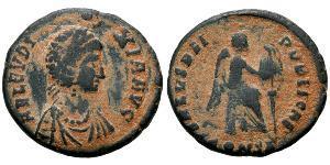 1 Follis / 1 AE3 Impero bizantino (330-1453) Bronzo Elia Eudossia (?-404)