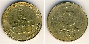 5 Peso Argentina (1861 - ) Ottone