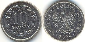 10 Grosh Third Polish Republic (1991 - ) Níquel/Cobre