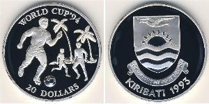 20 Dólar Kiribati Plata