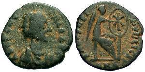 AE4 Roman Empire (27BC-395) Bronze Aelia Flaccilla (?-385)