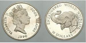 10 Dollar Cookinseln Silber Elizabeth II (1926-)