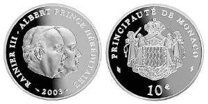 10 Euro Monaco Silver