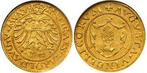 1 Gulden Imperial City of Augsburg (1276 - 1803) / Holy Roman Empire (962-1806) Gold Charles V, Holy Roman Emperor (1500-1558)