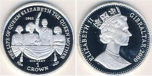 1 Krone Gibilterra Argento