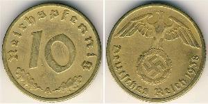 10 Reichpfennig Alemania nazi (1933-1945) Latón
