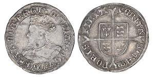 1 Groat Königreich England (927-1649,1660-1707) Silber Maria I (1516-1558)