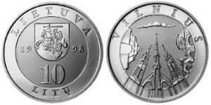10 Litas Lituania (1991 - ) Rame-Nichel