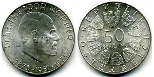 50 Shilling Republik Österreich (1955 - ) Silber