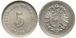 5 Pfennig Impero tedesco (1871-1918)