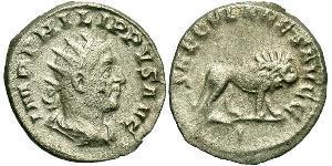 1 Antoninian Römische Kaiserzeit (27BC-395) Silber Philipp I (204-249)