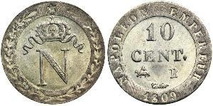 10 Centime First French Empire (1804-1814)  Napoleon (1769 - 1821)