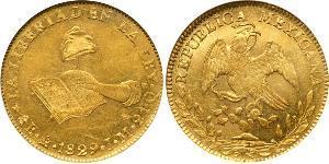 8 Escudo First Mexican Republic (1824–1835) Gold