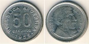 50 Centavo Argentina (1861 - ) Nichel/Acciaio