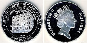 5 Dollar Fiji Silver