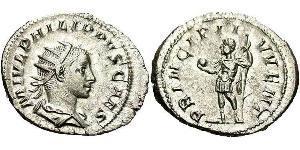 1 Antoniniano Impero romano (27BC-395) Argento Filippo II (237-249)