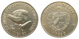 1 Peso Cuba Rame/Nichel