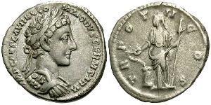 1 Denario Imperio romano (27BC-395) Plata Cómodo (161-192)