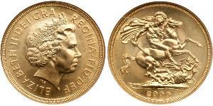 1 Sovereign United Kingdom Gold Elizabeth II (1926-)