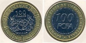 100 Franc Central African Republic Bimetal