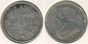 1 Sixpence South Africa Silver