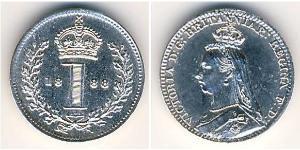 1 Penny Feriind Kiningrik (1707 - ) Argent