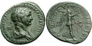 1 As Römische Kaiserzeit (27BC-395) Bronze Trajan (53-117)