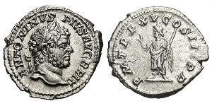 1 Denarius Römische Kaiserzeit (27BC-395) Silber Caracalla (188-217)