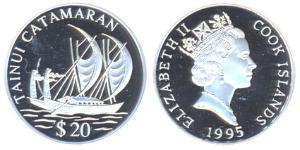 20 Dollar Cook Islands Silver
