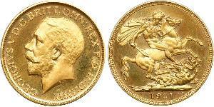 1 Sovereign United Kingdom Gold George V of the United Kingdom (1865-1936)