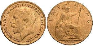 Фартінг Сполучене королівство Великобританії та Ірландії (1801-1922) Бронза Георг V (1865-1936)
