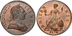 1/2 Penny Kingdom of Great Britain (1707-1801) Bronze George III (1738-1820)